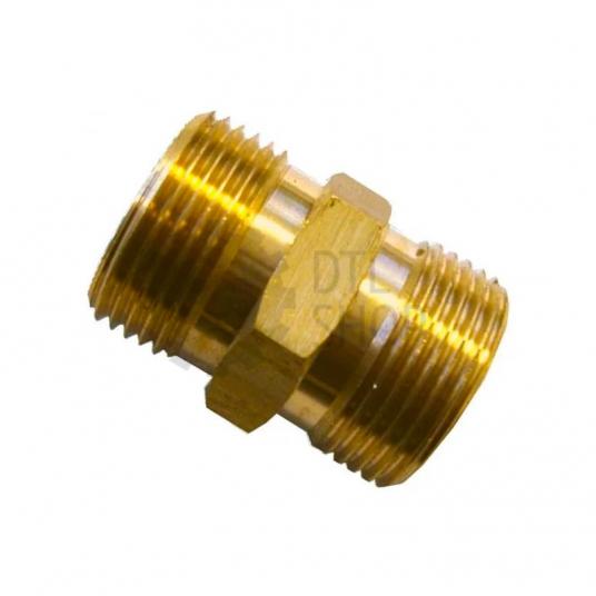 Соединитель на муфта для шлангов высокого давления М22: М22, латунь производство Германия R+M
